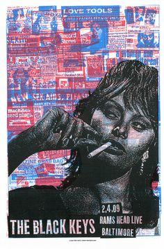 The Black Keys concert poster