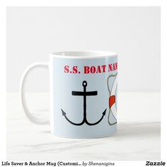 Life Saver & Anchor Mug (Customize)