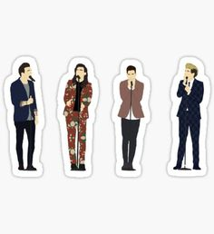 """one direction group dark]"" Stickers by underscoree"