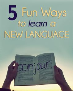 5 Fun Ways to Learn a New Language. My son told me tonight he wants to learn Swedish! Learn Swedish, Learn German, Learn English, English English, English Grammar, Teaching French, Teaching Spanish, Teaching English, French Lessons