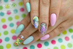 I'm The Boss & Rose Quartz & Gel Brush Mix by Kinga Kryńska, Indigo Educator #nails #nail #nailsarts #indigo #indigonails #iconnails #springnails #summernails #pastelnails