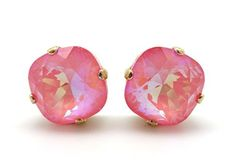 Catherine Popesco 12mm Ultra Blush Swarovski Crystal Gold Plated Stud Earrings by Catherine Popesco -- Awesome products selected by Anna Churchill