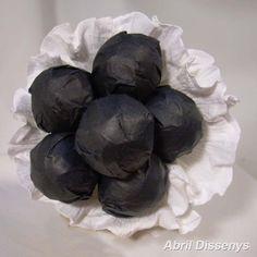 Bouquet de Chupa Chups Blanco y Negro