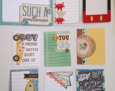 Etsy の Fun set of handmade project life cards by CodisCustomCards