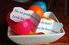 Easter Egg hunt with clues that get the kiddos moving before finding the next one