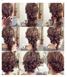 Hair roping woven into a messy bun! Stunning!