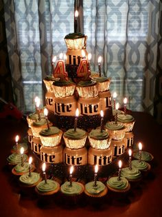 Creative and Unique Birthday Gifts Ideas for Your Boyfriend - Beer Cake - Sonia E. - Creative and Unique Birthday Gifts Ideas for Your Boyfriend - Beer Cake Hubbys birthday cake - Birthday Cakes For Men, Birthday Cake For Boyfriend, Beer Birthday Party, Hubby Birthday, Unique Birthday Gifts, 30th Birthday Parties, Boyfriend Cake, 30th Birthday Ideas For Men Surprise, Boyfriends 21st Birthday