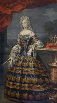 Mariana de Neoburgo, reina de España. Jaques costilleau; Museo del Prado.