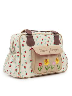 "Pink Lining Wickeltasche ""Blooming Gorgeous"" in Creme - (B)38 x (H)25,5 x (T)16…"