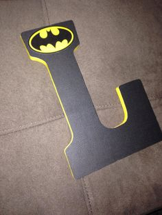 Batman Letter by CraftChambers on Etsy, $11.00