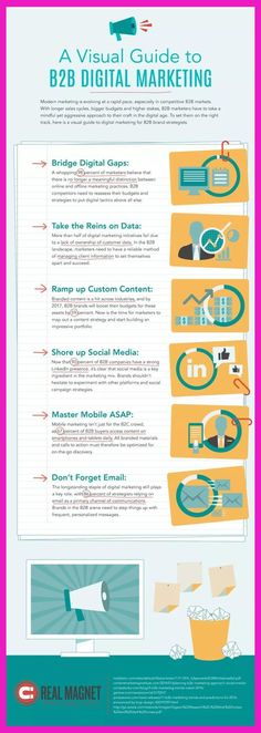 Infographic: A Visual Guide to Digital Marketing E-mail Marketing, Digital Marketing Strategy, Business Marketing, Content Marketing, Affiliate Marketing, Internet Marketing, Online Marketing, Marketing Strategies, B2b Social Media Marketing