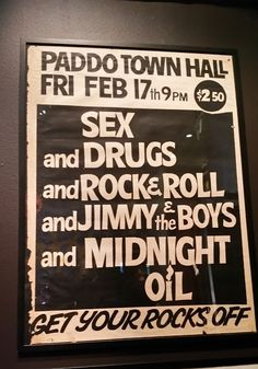 Midnight Oil: 17 Feb 1978 - Paddington Town Hall, Sydney, NSW (A... 17 Feb, Band Posters, Town Hall, Concert Posters, Drugs, Sydney, Fandoms, Oil, Photo And Video