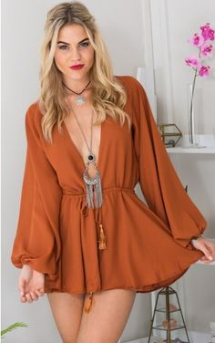 Showpo Free To Love Playsuit in Rust - 6 (XS) Rompers & Jumpsuits Sexy Outfits, Dress Outfits, Casual Outfits, Summer Outfits, Fashion Dresses, Cute Outfits, Cute Dresses, Casual Dresses, Latest Fashion For Women