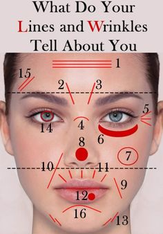What Do Your Lines and Wrinkles Tell About You Have you known that you can tell a lot about a person by looking at its facial traits? Here is is presented how to read the lines and wrinkles according to Ayurveda, an ancient Indian tradition of healing. Beauty Care, Diy Beauty, Beauty Hacks, The Face, Face And Body, Tips & Tricks, Tips Belleza, Belleza Natural, Beauty Secrets