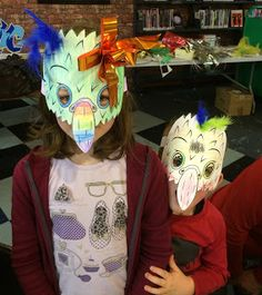 Explore and Discover Nature: Make a Kaka Mask - beaky fun Walking In Nature, Craft Activities, Birds, Kiwi, Walks, Fun, Crafts, Explore, Fictional Characters