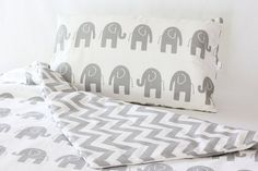 Baby Bedding Cot Quilt Cover & Matching Pillow Case by raenne