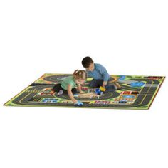 Jumbo Roadway Activity Rug incl Signs Creative Play, Creative Thinking, Carpets For Kids, Kids Rugs, Picnic Blanket, Outdoor Blanket, Melissa & Doug, Winding Road, Free Fun