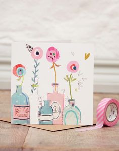 mothers day, birthday, greeting card, colour, drawing, design, collage, flowers, girly