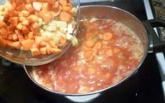 Recette: Soupe aux légumes et tomates.