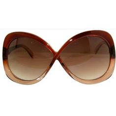 Unusual! Infinity Shaped Sunglasses! In Brown with Clear Finish GirlPROPS. $6.00. Save 70% Off!