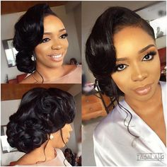 Today's dazzling bride, Neya ❤️. Our fun, chilled out no fuss darling Today's dazzling bride, Neya ❤️. Our fun, chilled out no fuss darling Hair by Makeup by Event planning by CokerCreative [Operations] Black Brides Hairstyles, Black Bridesmaids Hairstyles, Natural Wedding Hairstyles, Bridesmaid Hair Updo, Bridal Hair Updo, Bride Hairstyles, Hair Wedding, Wedding Makeup, Bridal Hairstyles African American