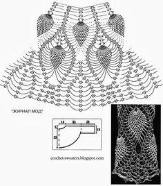 Pineapple Lace Bolero Crochet Pattern 2