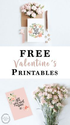 These free printable Valentine's Cards are the perfect way to show someone you care. You can use them to write someone you love a sweet note or use them for decor around the home!
