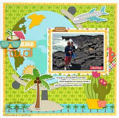 Doodlebug Design Inc Blog: NEW Doodlebug Cut File Release: Aloha Hawaii Layout by Monique Liedtke