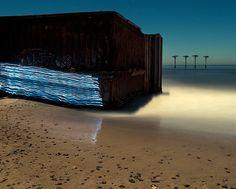 Toby Keller - Light Painting - Incursion - Haskells beach - 9/01/2009