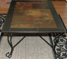 A slate table, only in a dining table size would be the perfect way to make it feel outdoorsy inside