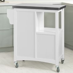 So Kitchen Storage Serving Trolley Cart With Stainless Steel Worktop Cupboards Fkw37 W