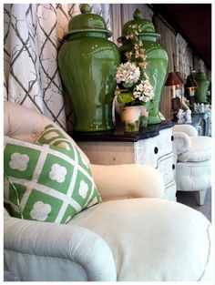 Ginger Jars and pillows