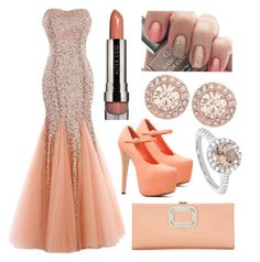 """""""style 2258"""" by bellaannabella ❤ liked on Polyvore featuring Roger Vivier, Givenchy, Modern Bride and LORAC"""