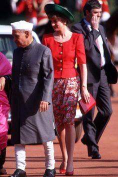 Princess Diana In India MARCH 29, 2016 Princess Diana going to meet the Vice President's wife Mrs. Sharma. REX Shutterstock. Princess Diana In India