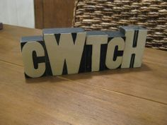 CWTCH - Rustic Wooden Blocks from www.ILOVEWALES.com
