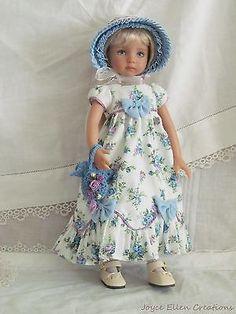 """13"""" Effner Little Darling BJD fashion blue & lilac Regency OOAK handmade by JEC"""