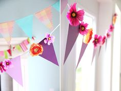 A DIY garland of bunting is pretty and easy. Learn how to pull it off on our blog (and get instructions for two other designs)!