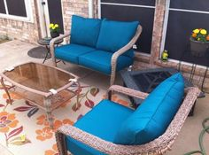 Buy Jordan Manufacturing Outdoor Patio   2 Piece Deep Seat Boxed Chair  Cushion At Walmart.