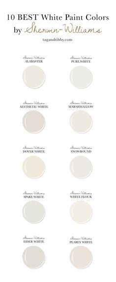 10 Best White Paint Colors by Sherwin-Williams — Tag & Tibby Design - 10 Best White Paint Colors by Sherwin-Williams — Tag & Tibby Design Estás en el lugar correcto pa -