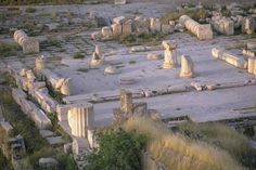 Part of the ruins of the #temple of Demeter at Eleusis in Greece