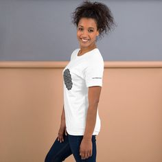 Mandala 'I am strong enough.' Top Short-Sleeve Unisex T-Shirt Gift Cotton Print Sleeve