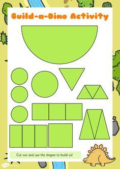 laminate and cut out Dinosaur Theme Preschool, Dinosaur Activities, Preschool Themes, Preschool Lessons, Toddler Activities, Preschool Activities, Toddler Fun, Dinosaur Crafts Kids, Dinosaur Worksheets