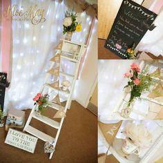 Vintage wooden ladder - wedding