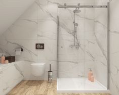 foorni.pl | Salon łazienek BLU | #poddasze #łazienka #łazienkanapoddaszu #marmur #białałazienka #drewno #attic #design #bathroomideas #bathroomdecor Wood Bathroom, Bathroom Inspo, Bathroom Inspiration, Small Bathroom, Bathroom Design Luxury, Modern Bathroom Design, Bad Inspiration, Girl House, Carrara