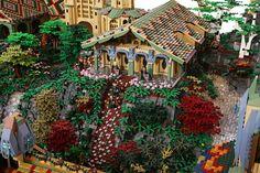 Lego Rivendell close up