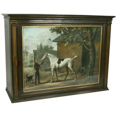 Equestrian Cabinet | From a unique collection of antique and modern cabinets at http://www.1stdibs.com/furniture/storage-case-pieces/cabinets/