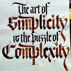 Simplicity-Complexity #calligraphy #sachinspiration #thedailytype #goodtype #calligraphymasters #walnutink #instatype