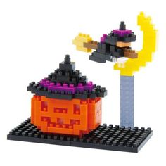 Nanoblock - - Jeu De Construction - Jack-O-Lantern Lego Halloween, Halloween Treats, Happy Halloween, Jack O'lantern, Lego Activities, Lego Club, Lego Craft, Stacking Blocks, Modern Toys