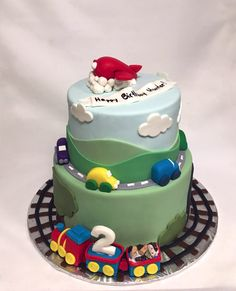 Planes, Trains, and Automobiles Cake