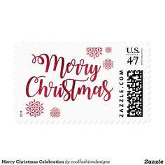 Merry Christmas Celebration Postage Stamp